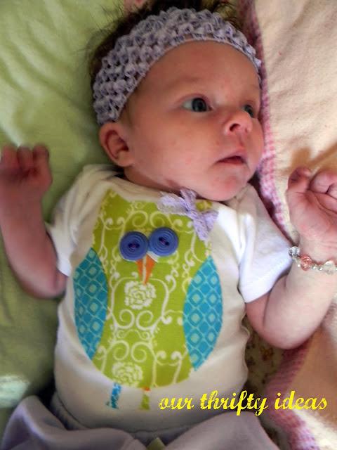 No Sew Baby Onsie Applique