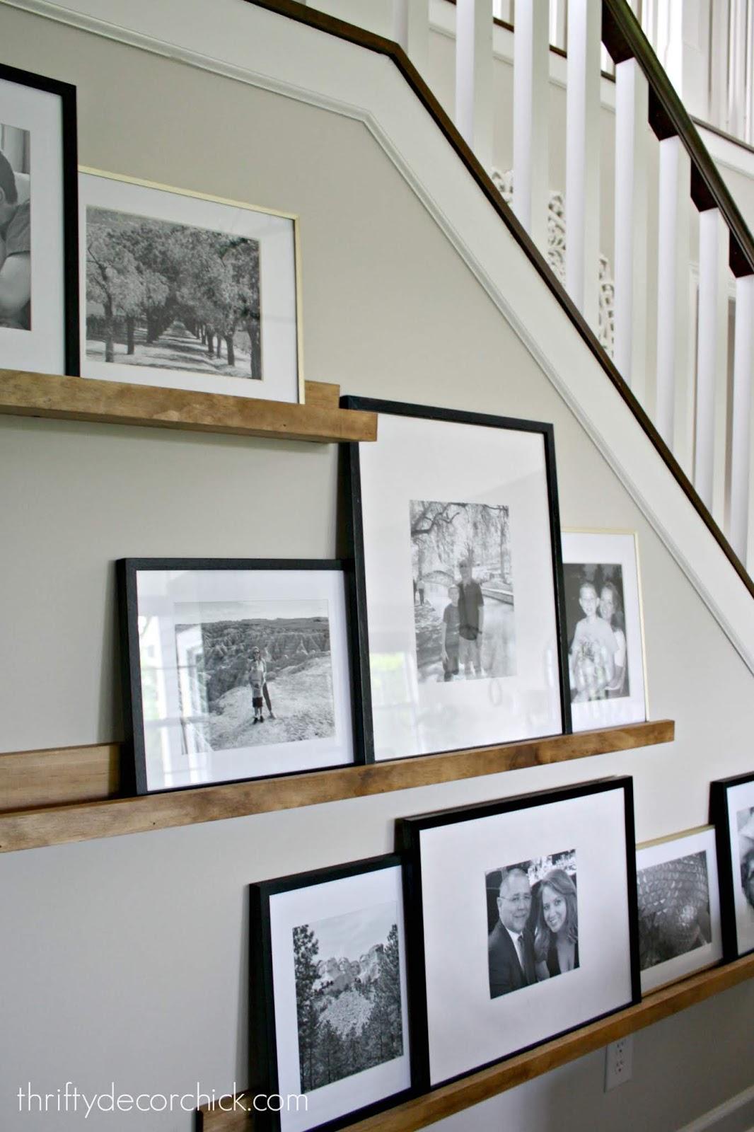 Picture ledge shelves tutorial