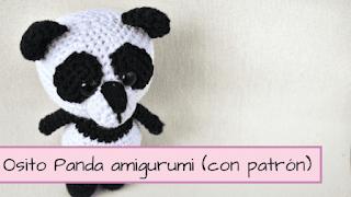 patron amigurumi oso panda título
