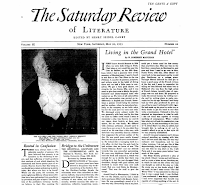 Living in a Grand Hotel, 1933 The Saturday Review of Literature - W. Somerset Maugham