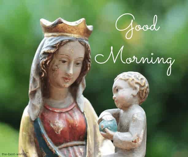 good morning images of mother mary