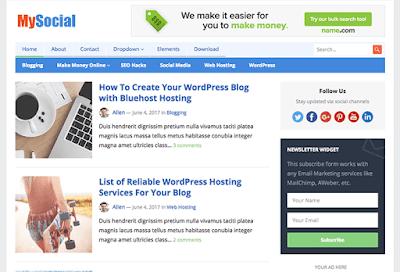 MySocial WordPress Theme
