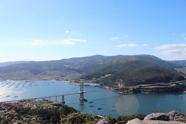 Panorámica desde el Banco más Bonito de las Rías Baixas, Galicia