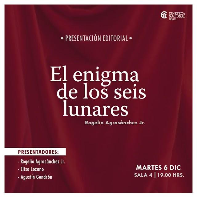 Rogelio Agrasánchez Jr. presentará novela sobre cine mexicano en la Cineteca Nacional