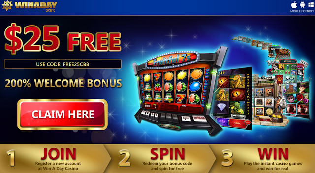Winaday Casino | Exclusive $25 FREE + 200% Deposit Match Bonus