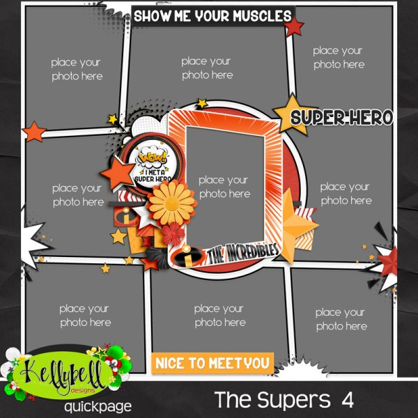 The Supers & Pocket Hero Vol 3 Templates by KellyBell Designs