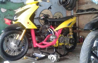 modifikasi mio soul road race  paling bagus