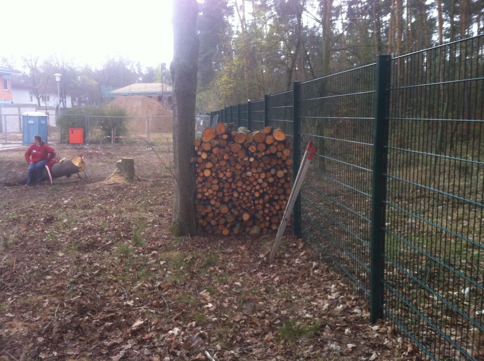 unsere stadtvilla bautagebuch: brennholz machen