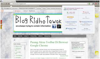 Alexa Toolbar Google Chrome