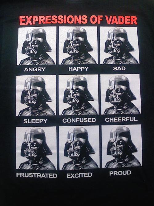 The 9 Expressions of Darth Vader