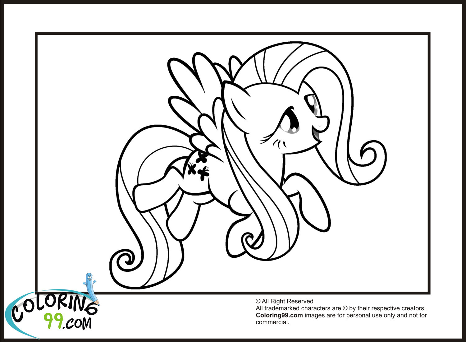 My Little Pony Fluttershy Coloring