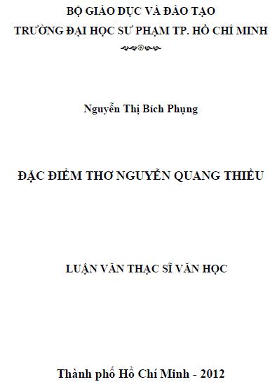 Đặc điểm thơ Nguyễn Quang Thiều