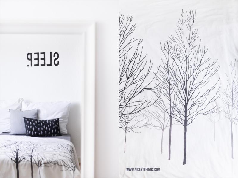 Bettwaesche mit Winterwald Motiv