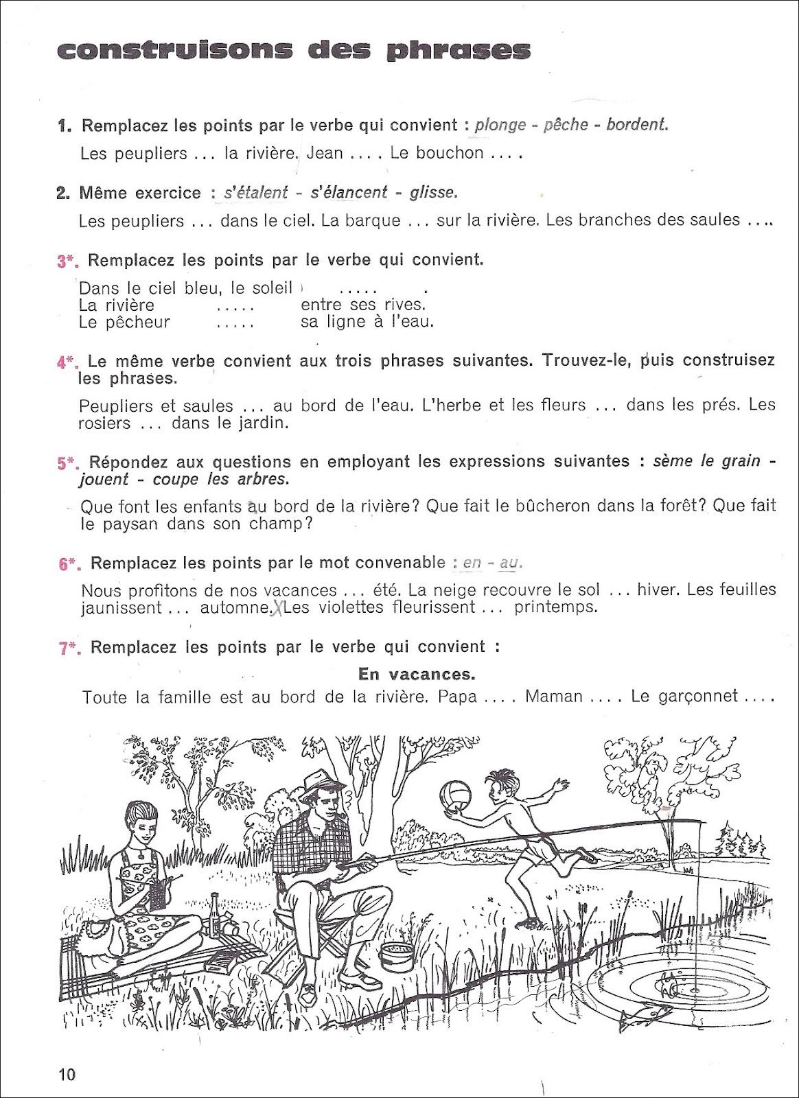Manuels anciens souvenirs de vacances garagnon vocabulaire 1 - Souvenir de vacances ...