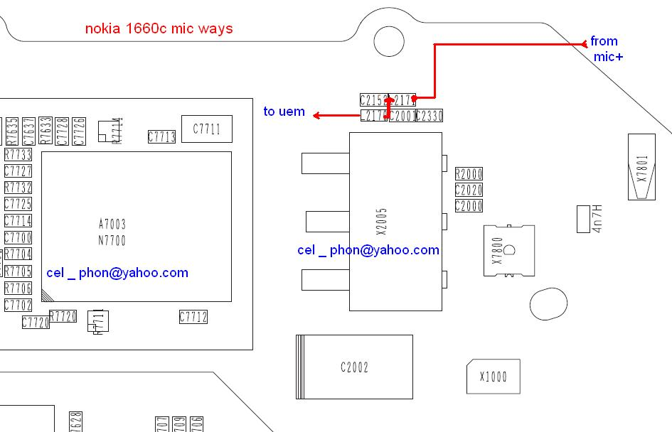 Nokia 1680C Mic Ways Jumper Pcb Layout  GSMHosters