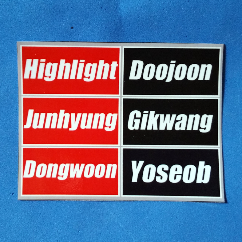 STICKER DAFTAR ANGGOTA KPOP IDOL CUSTOM