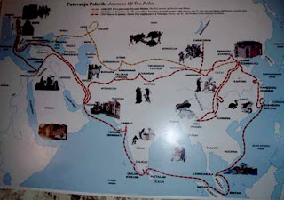 map Marco Polo Travels
