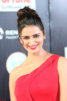 Meenakshi Dixit in Red One Shoulder Red Zipped up gown at IIFA Utsavam Awards006.JPG
