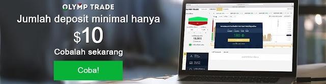 DEPOSIT OLYMPTRADE Menggunakan e-wallet  SKRILL