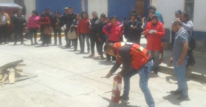 Con éxito se realizó II Taller contra Desastres por la UGEL Santiago de Chuco