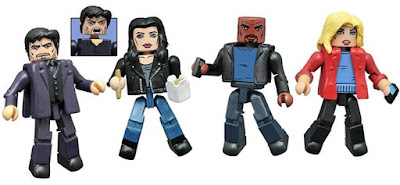 Marvel's Jessica Jones Television Series Minimates Box Set by Diamond Select Toys - Jessica Jones, Luke Cage, Trish Walker & Kilgrave (the Purple Man)