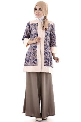 Model baju batik wanita muslimah untuk kerja