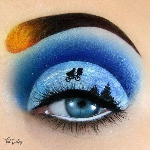 08-E-T-the-Extra-Terrestrial-Tal-Peleg-Eye-Make-Up-Art-Drawings-www-designstack-co