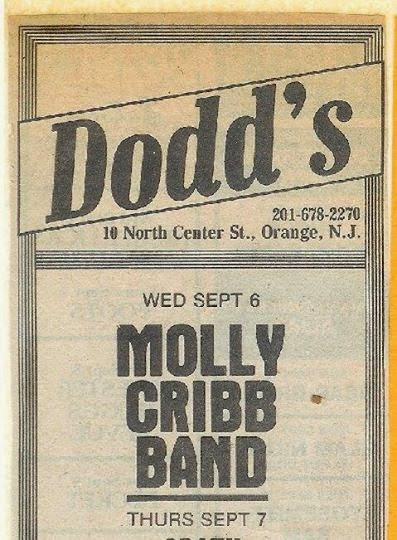 Dodd's rock club ad New Jersey