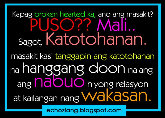 Heart Broken Quotes Tagalog