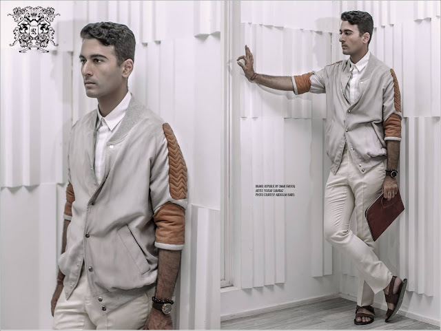 menswear/mens fashion style and profile photo shoot of architect yousaf shahbaz of strata lahore with republic by omar farooq shot by abdullah haris films in yousaf's office featuring the autumn/winter 2015 collection
