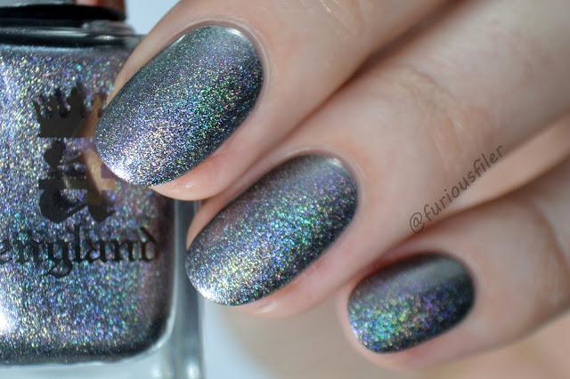 holographic swatch kalinka a england silver metallic iridescent