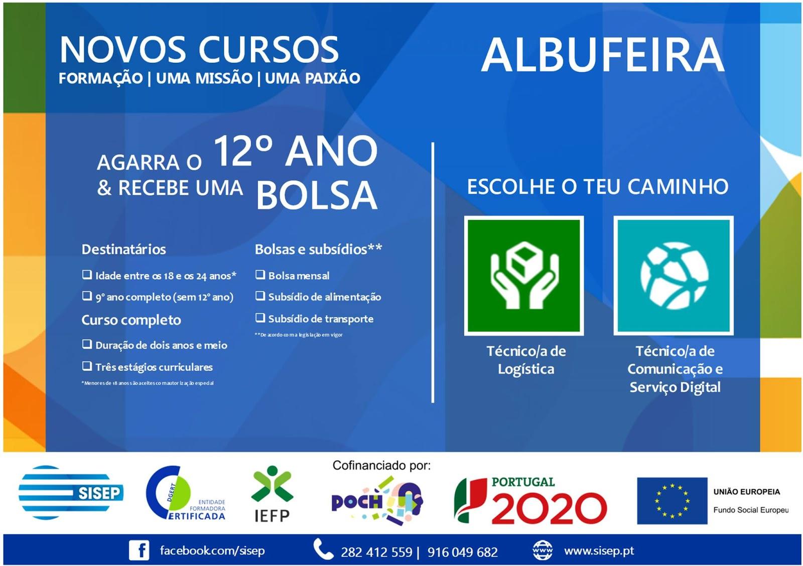 Cursos financiados em Albufeira e Loulé