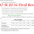 Final Result of CPO SI 2016 out