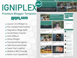 Download Template Blogger Igniplex V2 (Premium)