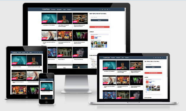 VubeTube Responsive Blogger Template
