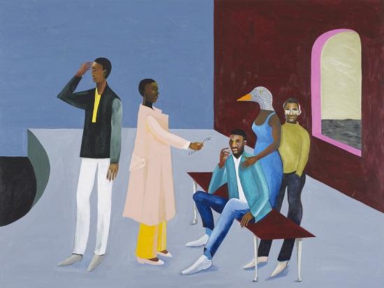 "por Lubaina Himid, ""Le Rodeur Exchange"", 2016."