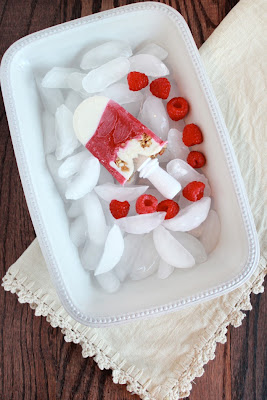 Framed Frosting: Honey Raspberry Parfait Pops