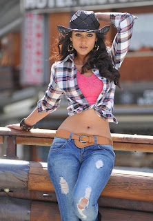 Ileana Latest Picture Gallery in Skinny Jeans with Check Shirt