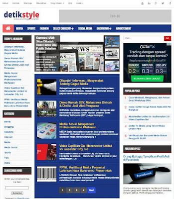 DetikStyle Premium - SEO Blogger Theme untuk Situs Berita