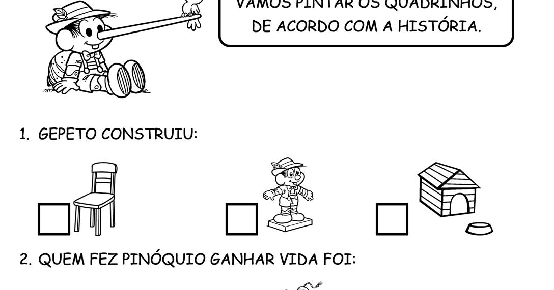 Atividade Para Imprimir: Pinóquio