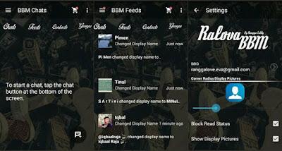 BBM Mod Ralova Tema Transparan Versi 2.10.0.35 apk