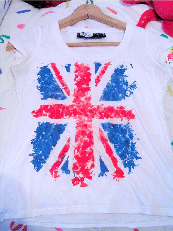 Camiseta hecha con ceras