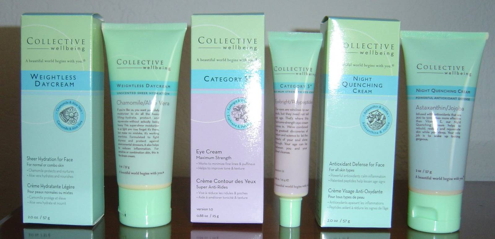 Collective Wellbeing Skin Care products