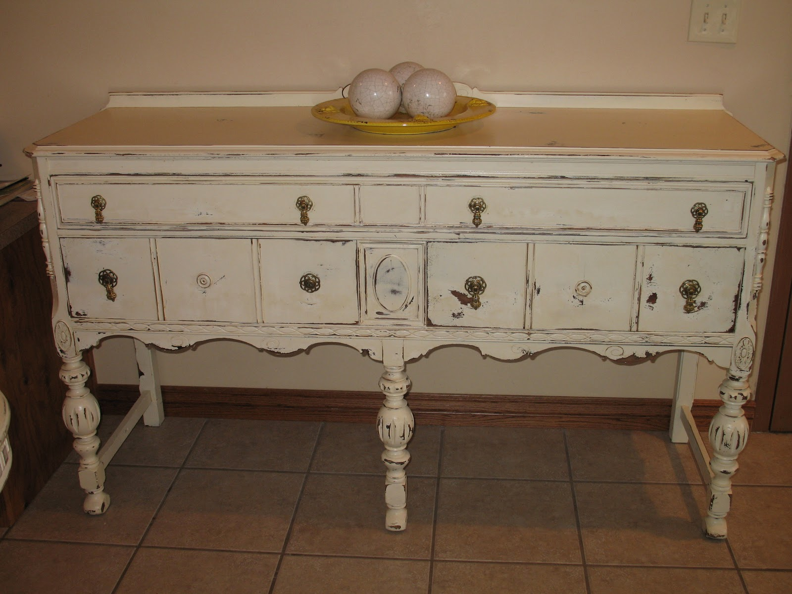 Shabby And Chic Buffet Sideboard Table