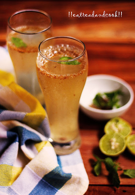 how to make Shikanji ~ The Indian Lemonade, lebur sharbat recipe and preparation