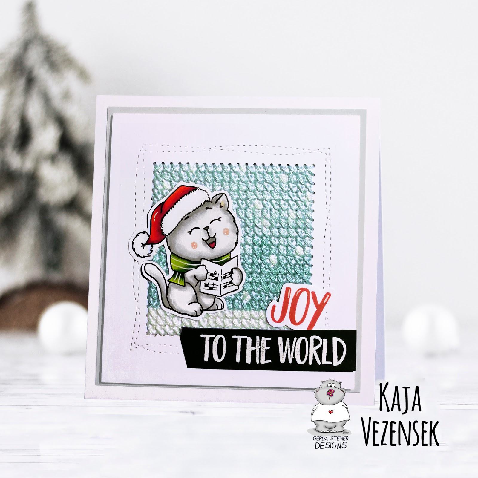 Stitched Christmas card | Gerda Steiner designs