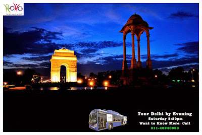 delhi by evening tour with HOHO Bus