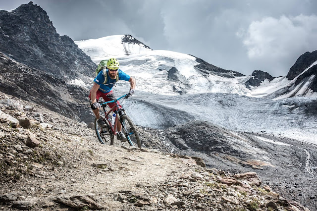 Enduro Trail Zebru Pass Bormio Mountainbike