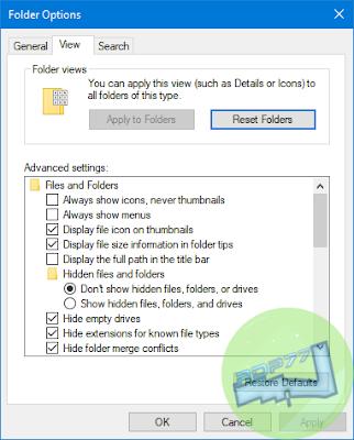 Cara Melihat Hidden Files Dan Mengetahui Extension Files