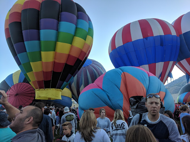 Fox Filed Filling up with Hot Air Balloons just Standing Up